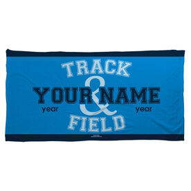 Track and Field Beach Towel Team