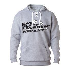 Lacrosse Sport Lace Sweatshirt - Eat Sleep Lacrosse Repeat