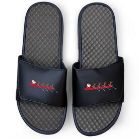Crew Navy Slide Sandals - Santa