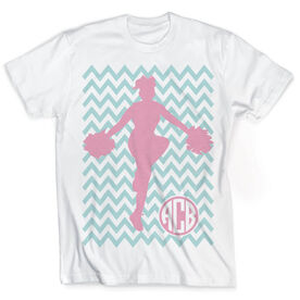 Vintage Cheerleading T-Shirt - Chevron Monogram