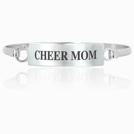 Cheerleading Engraved Clasp Bracelet - Mom (Text)