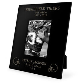 Football Engraved Picture Frame - Player Stats