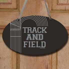 Track and Field Decorative Oval Sign Track and Field Lanes