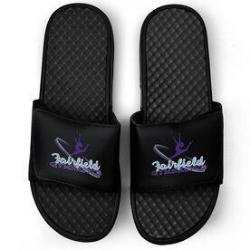 Gymnastics Black Slide Sandals - Your Logo