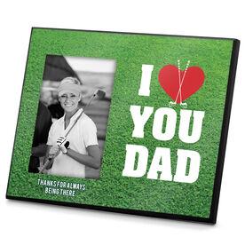 Golf Photo Frame I Heart You Dad Golf