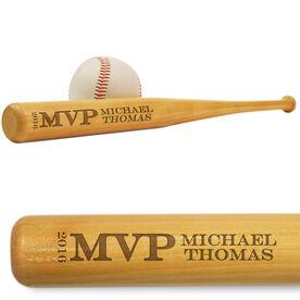 Baseball Mini Engraved Bat Most Valuable Player