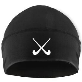 Beanie Performance Hat - Crossed Field Hockey Sticks