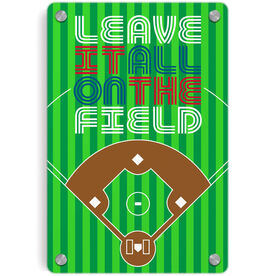 Baseball Metal Wall Art Panel - Leave It All On The Field