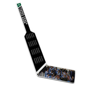 Personalized Knee Hockey Goalie Stick Thanks Coach with Photo