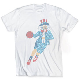 Vintage Basketball T-Shirt - Stars and Stripes