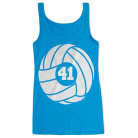 Volleyball Women's Athletic Tank Top Volleyball With Number