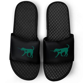 Field Hockey Black Slide Sandals - Field Hockey Dog