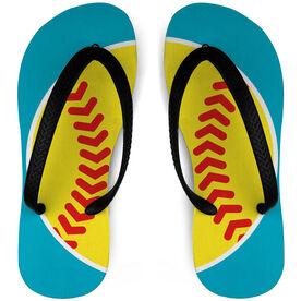 Softball Flip Flops Split