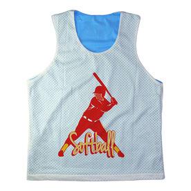 Girls Softball Racerback Pinnie Personalized Softball Batter