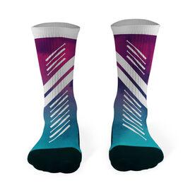 Softball Printed Mid Calf Socks Watercolor