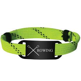 Crew Lace Bracelet Crossed Oars with Rowing Adjustable Sport Lace Bracelet