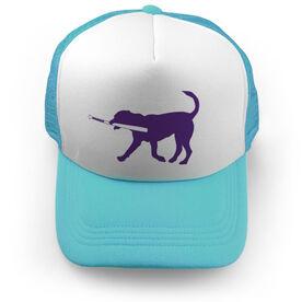 Baseball Trucker Hat Buddy The Baseball Dog