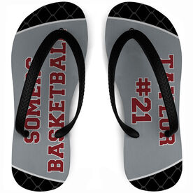 Basketball Flip Flops Personalized Team