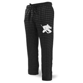Hockey Lounge Pants Goalie Silhouette