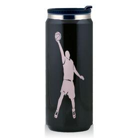 Stainless Steel Travel Mug Basketball Guy Reaching Silhouette