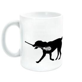 Lacrosse Ceramic Mug Max the Lax Dog
