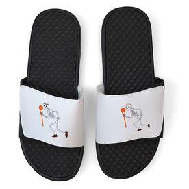 Lacrosse White Slide Sandals - Skeleton