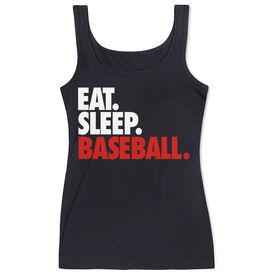 Baseball Women's Athletic Tank Top Eat. Sleep. Baseball.