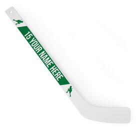 Personalized Knee Hockey Player Stick Player Silhouette