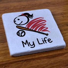 My Life Softball - Stone Coaster