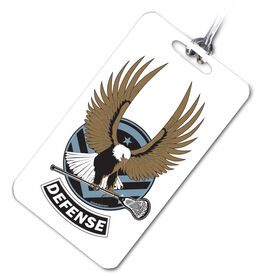 Lacrosse Bag/Luggage Tag LAX Strong- Defense