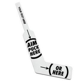 Personalized Knee Hockey Goalie Stick Aim Here (Goalie)