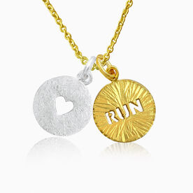 Livia Collection 14K Gold Vermeil and Sterling Silver Run Bliss Necklace