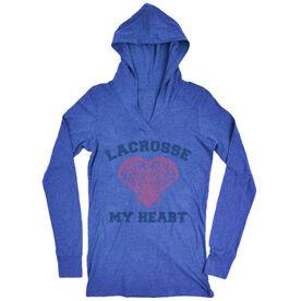 Women's Lacrosse Lightweight Performance Hoodie Lacrosse My Heart