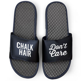 Gymnastics Navy Slide Sandals - Chalk Hair Don't Care