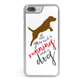 Running iPhone® Case - All You Need Is Running And A Dog