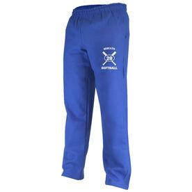 Softball Team & Number Fleece Sweatpants
