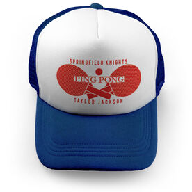 Ping Pong Trucker Hat - Personalized Crest