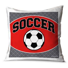 Soccer Throw Pillow Soccer Ball