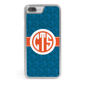 Basketball iPhone® Case - Monogram with Basketball Pattern