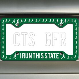 I Run This State (Male) License Plate Holder