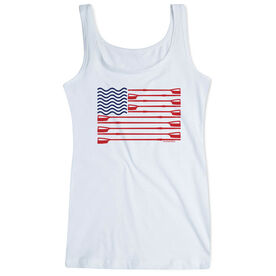 Crew Women's Athletic Tank Top American Flag
