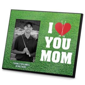 Golf Photo Frame I Heart You Mom Golf