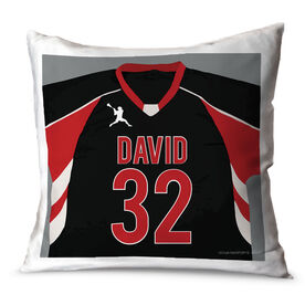 Guys Lacrosse Throw Pillow Personalized Lacrosse Jersey