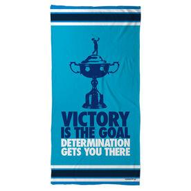 Golf Beach Towel Victory Is The Goal (Female)