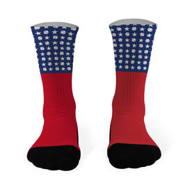 Baseball Printed Mid Calf Socks Baseball Pride Pattern