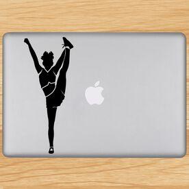 Cheerleader Foot Grab Silhouette Removable ChalkTalkGraphix Laptop Decal