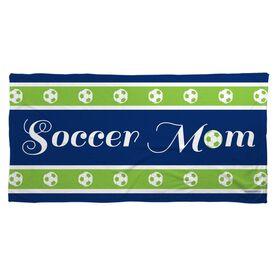 Soccer Beach Towel Mom Stripe