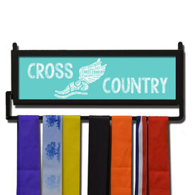 RunnersWALL Cross Country Inspirational Words Winged Foot Medal Display