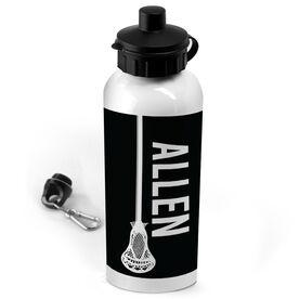 Lacrosse 20 oz. Stainless Steel Water Bottle Personalized Vertical Lacrosse Stick