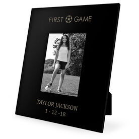 Soccer Engraved Picture Frame - First Game